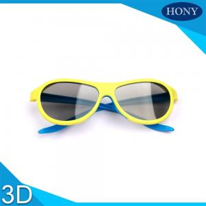 China Adult  Passive Cinema 3D Glasses Linear Polarized Lens With Blue / Yellow Color on sale