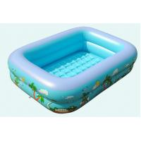 Double Layers Inflatable Kids Toys Lovely Rectangular Inflatable Swimming Pool
