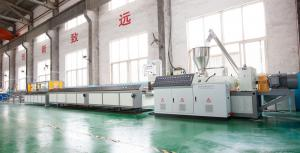 China High Strength WPC Making Machine With Laminating , Hot Stamping , Printing , Painting WPC Profile Machine on sale