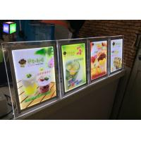 China Table Stand LED Light Box Frame Sign Lightbox Illuminated Menu Boards RoHs Standards on sale