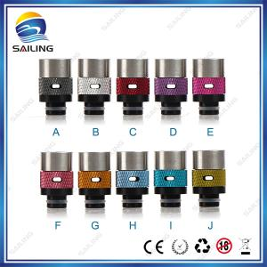 China Adjustable Airflow  Ecigarette Drip Tips 510  Aluminum Material For Adjustable Airflow Control on sale