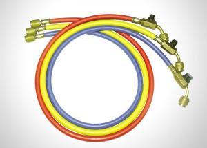 China Multi Color Other Products High Pressure R410a Refrigerant Hoses With Ball Valves on sale