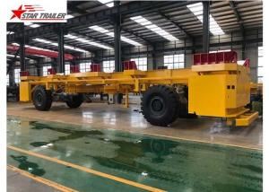 China 40 Foot Pipe Transport Trailer AGV Frame Safe Operate With JOST Landing Gear on sale
