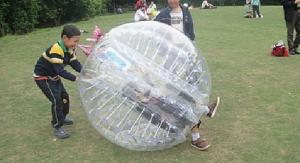 China Transparent Body Zorb Ball, Inflatable Bumper Ball for kiddies on sale