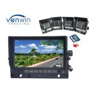 9 Inch All In One DVR car tft monitor , car tft lcd monitor with 4ch cameras recording
