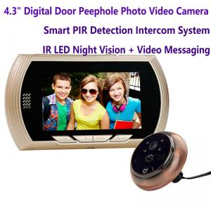China 4.3 Digital Door Peephole Viewer Photo Video Camera Recorder Home Security Smart PIR Video Doorbell IR LED Night Vision on sale