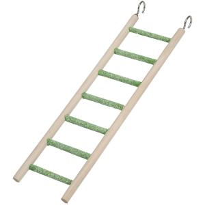 China 7 Steps Wooden and Cement Bird Ladder with hanging hooks for Budgies, Canaries, Cockatiels on sale