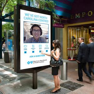 China Way finding Kiosk with Nano Touch Outdoor Digital Signage  2500 nits IP 65 on sale