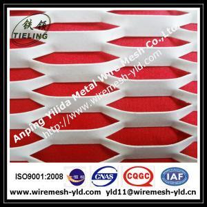 China ポリ塩化ビニールによって塗られる六角形の拡大された金属板、拡大された金網 on sale