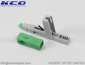 China Telecom Field Installable Fiber Optic Connector 0.3dB 3D SC/APC SC/APC Green Color on sale