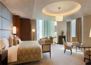China 2017 Modern Hotel Bedroom Furniture Kingsize Bed Sets Wooden For 5 Star on sale