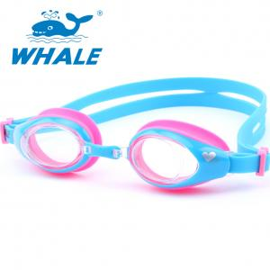 China UV Lens Kids Swimming Goggles Clear View High Definition With Silicone Strap on sale