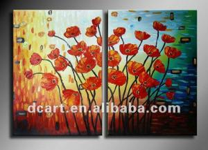 China Beautiful flower handmade group flower oil painting for wall decoration on sale