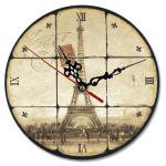 Round Personalized Clocks With Pictures , White Personalized Wall Clock Gifts