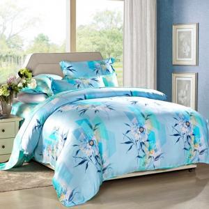 Quality 4pcs modernos se dirigen sistemas del lecho del dormitorio los sistemas de la cubierta del edredón de Tancel de la tela de algodón del 100 por ciento for sale