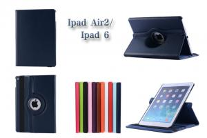China custom Protective Ipad Cases PU Leather Cover , 360 degrees rotate holder ipad air 2 covers on sale