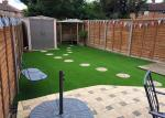 SABIC PE Artificial Grass Carpet Roll Lush / Soft Straight Plus Thatch 35mm For Recreation