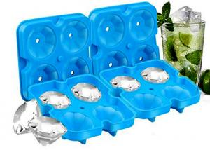 China Diamond Ice Cubes BPA Free Easy Release Silicone Ice Cube Maker for Cocktail, Whisky, Bourbon on sale