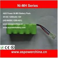 China Ni-MH battery pack 4/5 SC 1200mAh 12V on sale