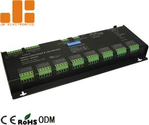 China 32 Channels Black LED DMX512 Decoder For RGBW Lighting Constant Voltage PWM Signal on sale