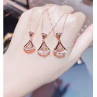 Solid 18k Rose Gold Diamond Pendant NecklaceSkirt Shape For Engagement