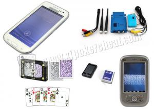 China White Samsung S4 Mobile Phone Poker Cheat Device Marked Playing Cards Analyzer on sale