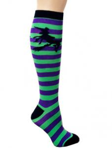 China Breathable Cotton Knee High Socks , Winter Striped Knee High Socks on sale