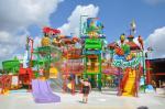 Style de forêt d'équipement de terrain de jeu de l'eau de l'amusement des enfants avec le rideau en eau