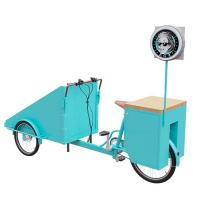 China Easy Cleaning Stainless Steel Bike Vending Cart Customized Brand Logo on sale