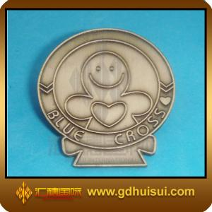 China fashionable brass flashing badge on sale
