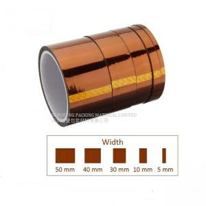 China Amber / Golden Kapton Polyimide Tape High Voltage Resistance For Electronic Components on sale