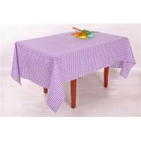 Elegant Style Purple And White Checkered Table Cloth 54x72 72x108 Inch