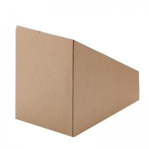 China Cheap simple corrugarted kraft paper sneaker display box custom dimension on sale