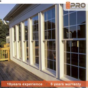 China Horizontal Aluminum Sash Windows PVDF Surface Treatment Color Optional on sale