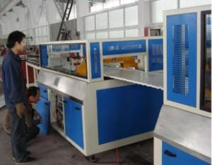 China Fully automatic Wood Plastic Composite Extrusion Line With Online Lamination For Making Furniture Board on sale