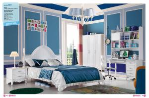 China white painted gloss kids bed room set furniture,#907 on sale