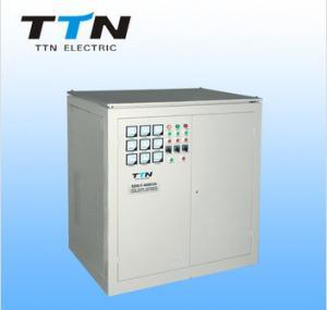 China Tipo independente regulador de SBW-F de tensão automática trifásico de uma C.A. de 100000 watts da compensação on sale