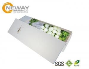 Quality White Luxury Paper Cardboard Flower Presentation Box Fashion Floral Packaging for sale