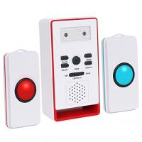 Caregiver Pager with Two Call Button for the Elderly Nurse Call Alert Patient Disabled CX3055J