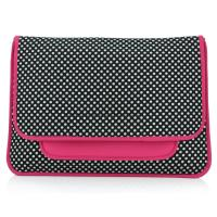 Be removable shoulder strap neoprene laptop sleeve with dot and zebra design and cover