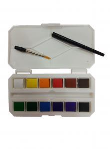 China 12 / 18 / 24pcs / Plastic Box Solid Art Painting Colours Children'S Watercolor Paint Set on sale