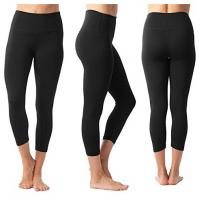 Stretchy Fabric Workout Pants For Women Moisture Wicking Anti Drop With Pocket