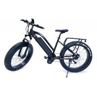 High Speed  1000w Bafang Mid Drive Motor Mountain Electric Fat Bike with front  suspension fork