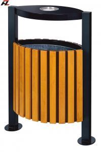 China Metal and Wood Street Rubbish Bin-Rubbish Barrel on sale