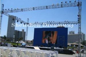 China P10 Flexible Outdoor LED Screen Rental High Brightness For Advertising Board on sale