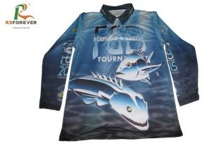 China Long Sleeve Sports Printed Polo Shirts For Men 100 Percent Polyester Fishing Jersey supplier