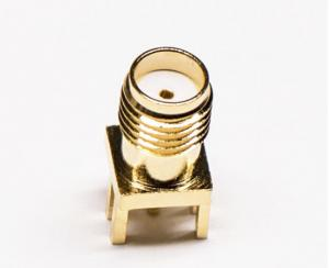 China 180 Degree DIP PCB RF Coaxial Connector SMA RF Connector Kit Brass Material on sale