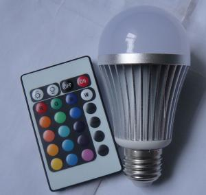 China DHL free shipping 9W E27 E14 RGB LED bulb RGB led light RGB led globe light on sale