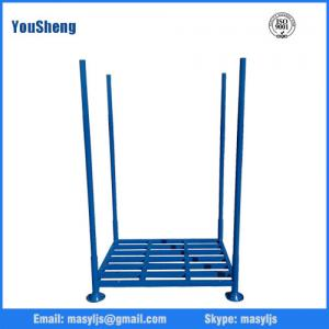 China Warehouse steel hot selling pallet racking,Foldable and Stackable Tyre Warehouse Storage Post Pallet Rack on sale