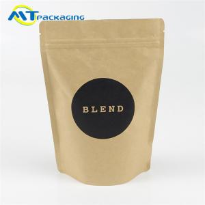 China Food Grade Snack Packaging Bags Gravure Printing With Zipper And Valve on sale